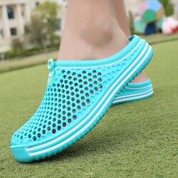 Polali sandálias das mulheres 2019 verão sandálias moda oco para fora respirável chinelos de praia flip flops eva massagem chinelos sandálias