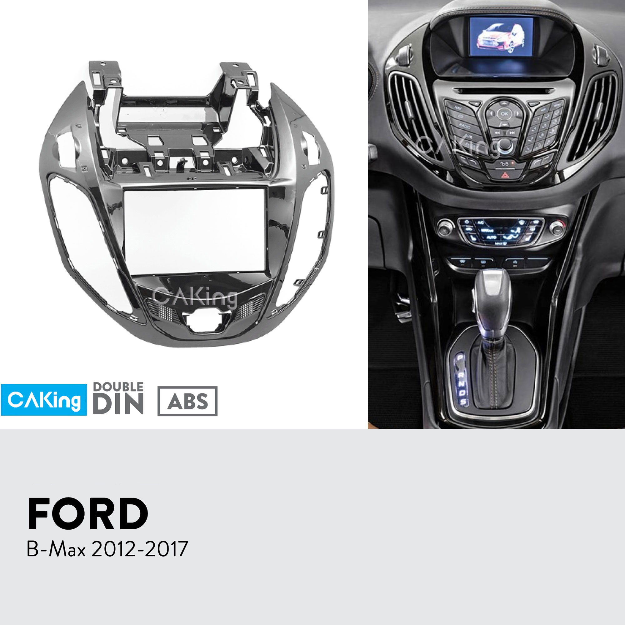 Double Din Car Fascia Radio Panel for FORD B Max Bmax 2012 2017 Dash Fitting Kit Facia Face Plate Adapter Cover Front Bezel-in Fascias from Automobiles & Motorcycles    1