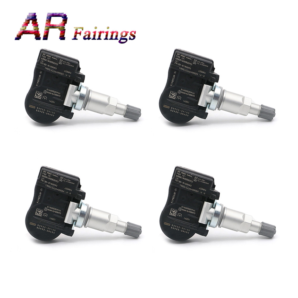 4 PIECE 52933-3N100 TPMS Tire Pressure Sensor Monitor Systems Wheels Tires Part For Hyundai Accent Genesis Coupe For Kia Sorento