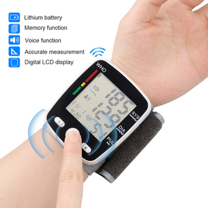 Image 2 - Rechargeable Health Care Germany Chip Automatic Wrist Digital Blood Pressure Monitor Tonometer Meter  Measuring And Pulse Rate