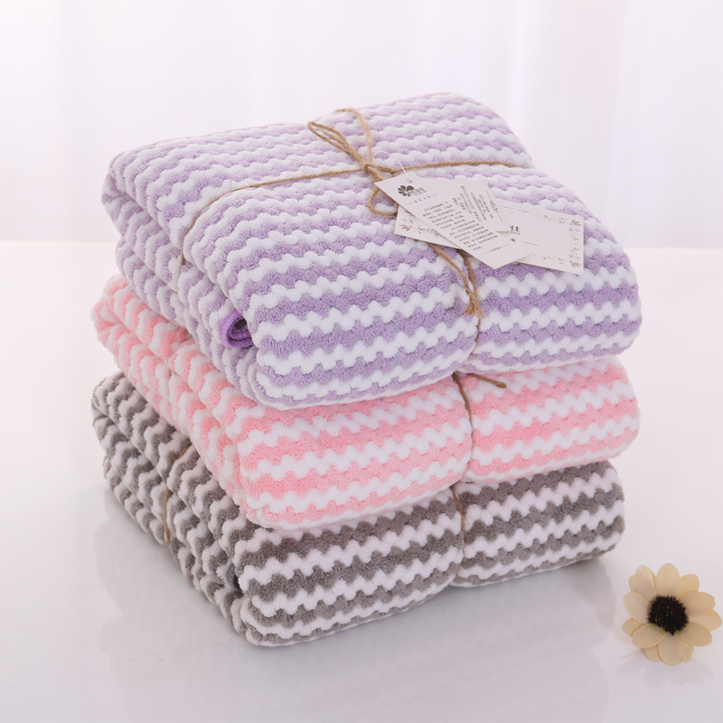 Wave Grain Fluffy 3d Plaid Fast Drying Baby Receiving Blanket Bathrobe Baby Towel Kids Beach Blanket Baby Blanket