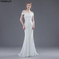 YIDINGZS Elegant Beautiful Lace Mermaid Wedding Dresses Off Shoulder Beaded Vestidos De Noiva Robe De Mariage Bridal Dress