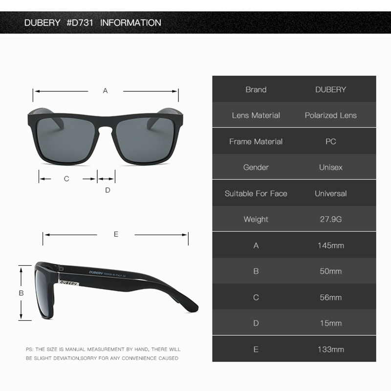 DUBERY Polarized Sunglasses Aviation Driving Shades Male Sun Glasses - Accesorios para la ropa - foto 3
