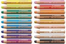 STABILO وودي 3 في 1 متعدد المواهب قلم رصاص متنوعة الألوان محفظة من 6/10/18 الألوان