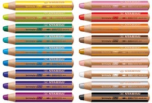 STABILO Woody 3 in 1 Multi Talented Pencil  Assorted Colors Wallet of 6/10/18 Colors