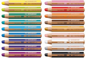 Image 1 - STABILO Woody 3 in 1 Multi Talented Pencil  Assorted Colors Wallet of 6/10/18 Colors