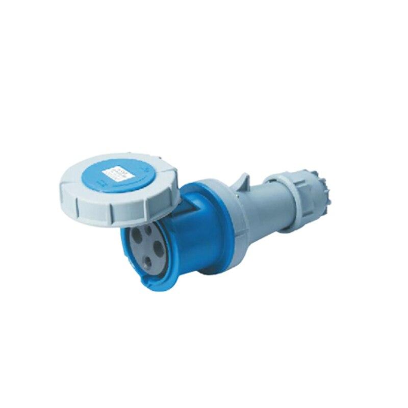 63A 3Pin Novel industrial plug socket connector SFN-2332 cable connector 220-250V~2P+E Waterproof IP67  63a 3pin 220 240v industrial waterproof hidden oblique socket waterproof grade ip67 sf 433