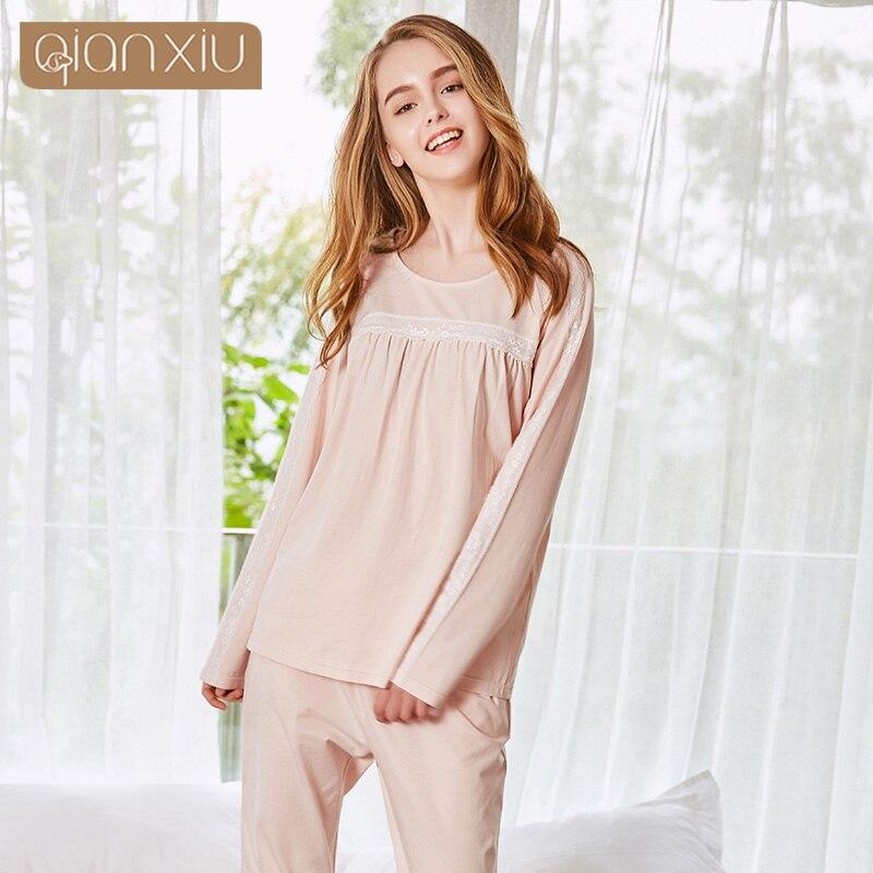 Qianxiu adult onesie women s pajamas Knitted bamboo fiber Striped lady  nightwear bedgown-in Pajama Sets from Underwear   Sleepwears on  Aliexpress.com ... f8faadda2