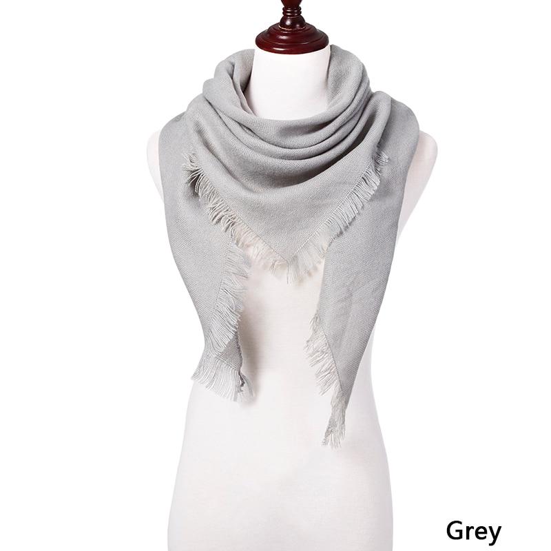 Горячая Распродажа, Модный зимний шарф, Женские повседневные шарфы, Дамское Клетчатое одеяло, кашемировый треугольный шарф,, Прямая поставка - Цвет: C1