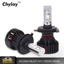 1 Pair Car Headlight H7 Led H4 H11 HB4 H8 HB3 H9 9005 9006 XHP50 LED Headlights Bulb 60W 8000LM Automobile Fog Light 6500k(China)