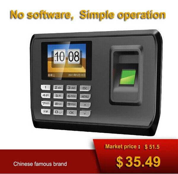 ФОТО No software USB download data Mini Fingerprint time attendance system Biometric Fingerprint Time Clock Recorder