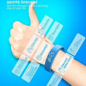 Image 5 - Pulsera inteligente impermeable 3D calorías contador de pasos Fitness rastreador compatible con múltiples modos deportivos banda inteligente caliente
