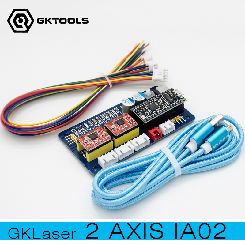 New 2-Axis Engraving Machine Control Board, Used for DIY Laser Engraving Machine Motherboard, Support GRBL0.9, BenBox gktools v4 usb multi axis stepper motor control board diy engraving machine motherboard support pwm to adjust laser power