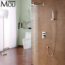 Bathroom rain shower set with Shower head and hand shower