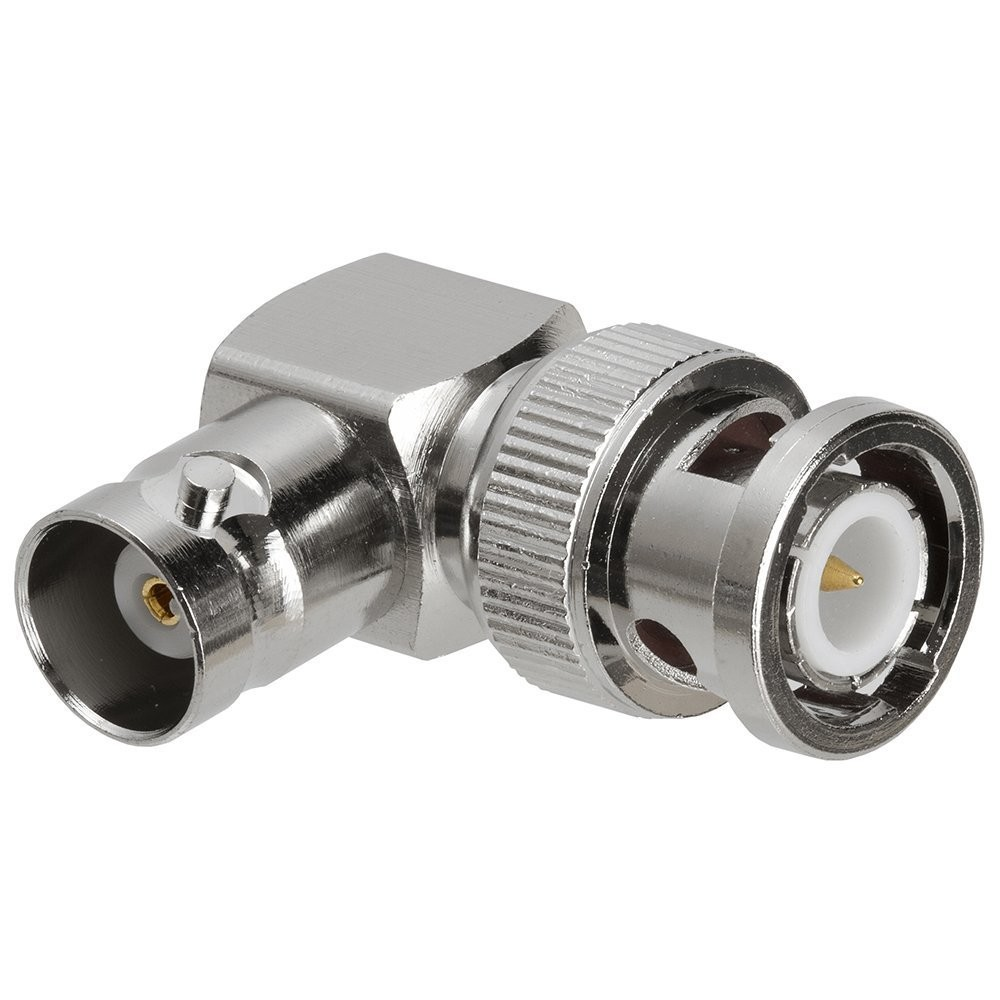 50pcs copper BNC Male Plug to BNC Female Jack Right Angle 90 Degree Adapter Coaxial connectors