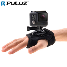 PULUZ 360 Degree Rotation Glove Style For Palm Strap Mount Band GoPro NEW HERO