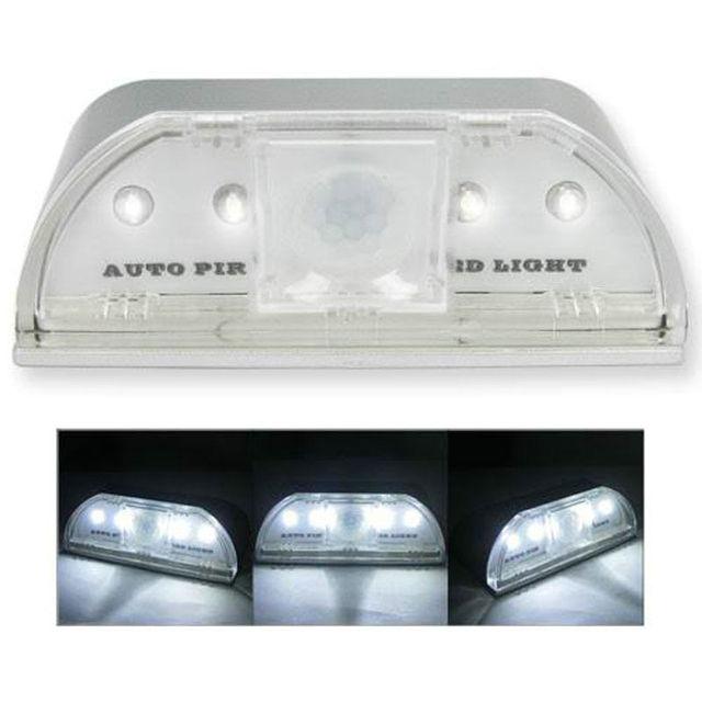 PIR Infrared IR Wireless Auto Sensor Motion Detector Keyhole 4 LED Light kitchen hallway stairway lamp- White