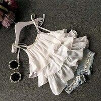 Toddler Kids Baby Girls Chiffon Pearl Vest Shirt Jean Shorts Outfits Clothes Set Chiffon Cute Sweet