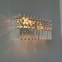 Home rectangular crystal wall sconce Modern Bar cafe light indoor wall lamps abajur hallway living room large Led wall lights