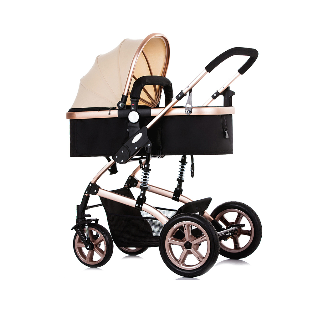 NEW Foldable Pram Baby Stroller With Explosion-Proof Rear Wheel Lightweight Aluminum Alloy Luxury Baby Stroller lovebaby 20 inch air wheel and aluminum alloy frame baby jogger bike trailer strong shock proof stroller with hand brake