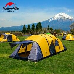 Tienda de campaña Naturehike Wormhole Serice para 3-10 personas, tienda de campaña grande, equipo hinchable familiar, tiendas de cuatro habitaciones y una sala de estar
