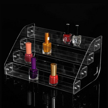 4 Layers New Clear Acrylic Fashion Nail Polish Rack Household Makeup Tool Holder Cosmetic Nail Polish
