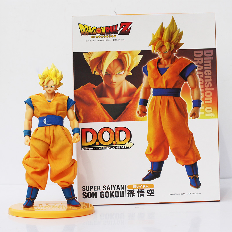 MegaHouse DOD Dragon Ball Z Son Goku PVC Action Figure 21CM DOD Super Saiyan Goku Collectible Model Toy Figuarts DBZ Figuras dragon ball z action figure god goku super saiyan led lighting display toy anime dragon ball son goku collectible model diy155