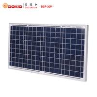 DOKIO Brand Solar Panel China 30W Polycrystalline Silicon Solar Panels 18V 350*660*25mm Size Top Quality Paneles solares China