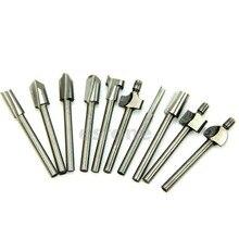 Фасонные фрезы HSS резец по дереву подходит для Dremel роторный набор инструментов 10 шт. 1/8 «3 мм