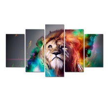 Waterproof Printing Photo Painting Custom Canvas Print Lion On Canvas Printing Wall Pictures Home Decoration With Frame Abooly