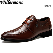 Good Quality Brand Men's Fashion Business Genuine Leather Oxfords Shoes Men Dress Wedding Office Shoes Chaussure Hombre