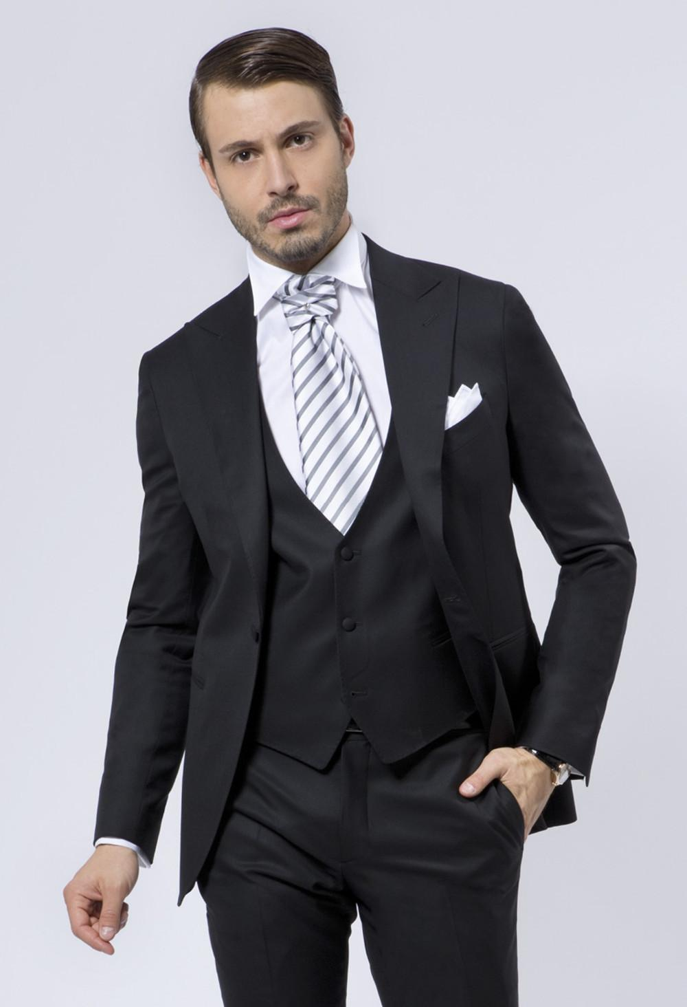 Fashion Style One On Black Groom Tuxedos Groomsmen Mens Wedding Suits Prom Bridegroom Jacket Pants Vest Tie No 635 In From Men S Clothing