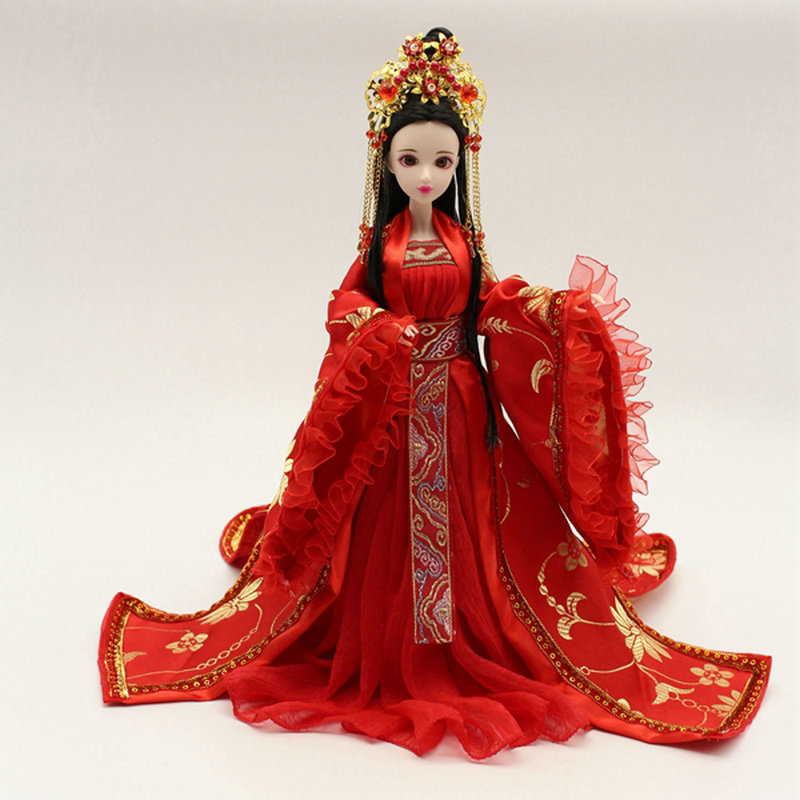 Pure Handmade Chinese Ancient Costume Doll Clothes for 29CM Kurhn Doll or OB27 Bjd 1/6 Body Doll Girl Toys Dolls Accessories handmade ancient chinese dolls 1 6 bjd jointed doll empress zhao feiyan dolls girl toys birthday gifts