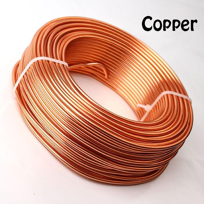0,5 кг анодированная художественная алюминиевая проволока 2,5 мм 10 Калибр 39 м 43yd цветные украшения Мягкая металлическая проволока постоянные цвета - Цвет: Copper