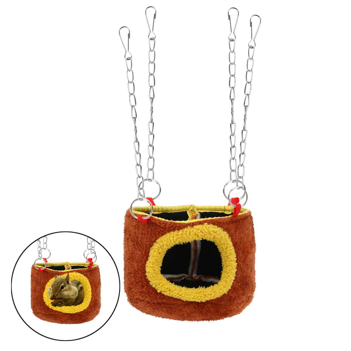 Hanging bed nest - Small Animals Snuggle Hammock Hanging Bed Hut Nest Squirrel Chinchilla Guinea Pig Rat China