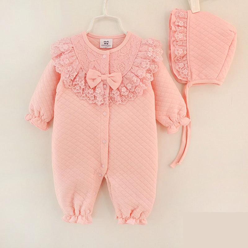 Baby Rompers Winter Long Sleeve Girls Romper Clothes For Newborn 0-1y Children Clothes Infant Pure Cotton Girl Jumpsuit 4rr164 newborn infant baby girls boys rompers long sleeve cotton casual romper jumpsuit baby boy girl outfit costume