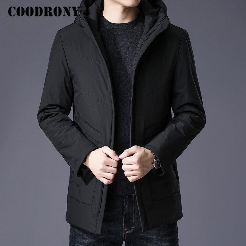COODRONY Chaud Épais À Capuchon Parka Hommes Hiver Veste Hommes Vêtements 2018 Nouvelle Arrivée Casual Long Manteau Hommes Coton De Mode Pardessus 836