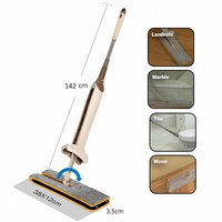 Double Sided Microfiber Flat Mop Self Wringing Wet and Dry Clean Handheld Mop Sweeper Cleaner Household Cleaning Tools