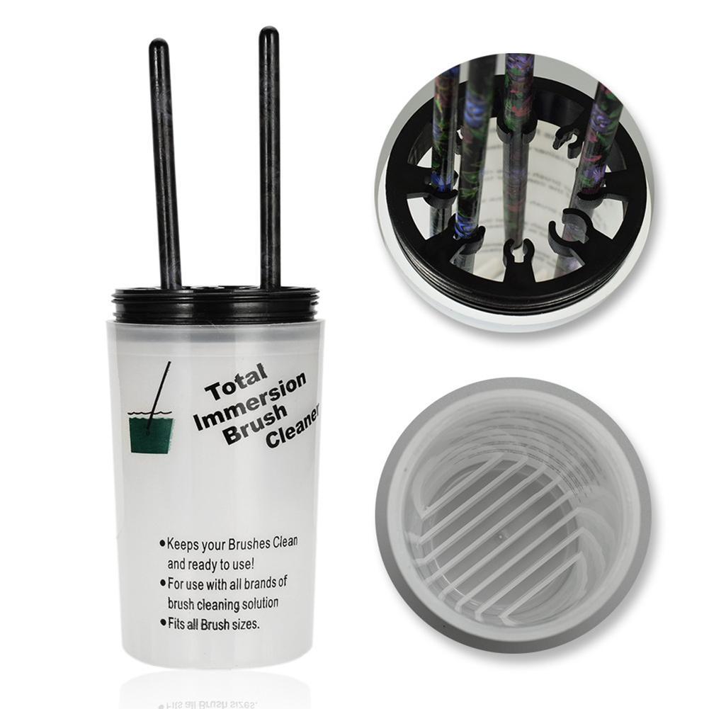 AnalíTico Herramienta De Arte De Uñas Portátil Cepillo Limpiador De Botellas De Limpieza Con Tapa De Clip De Sujeción Precio Moderado