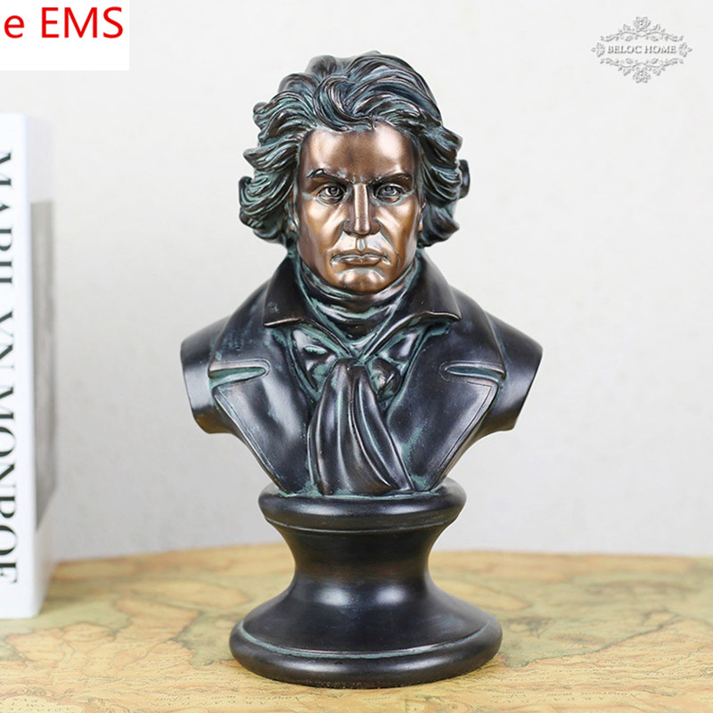 Gypsum Ludwig Van Beethoven Bust Statue Franz Joseph Haydn Resin Craftwork Home Decorations Art Material L2332 retro music ludwig van beethoven bust franz joseph haydn statue colophony crafts sketch teaching collectible decorations l2352