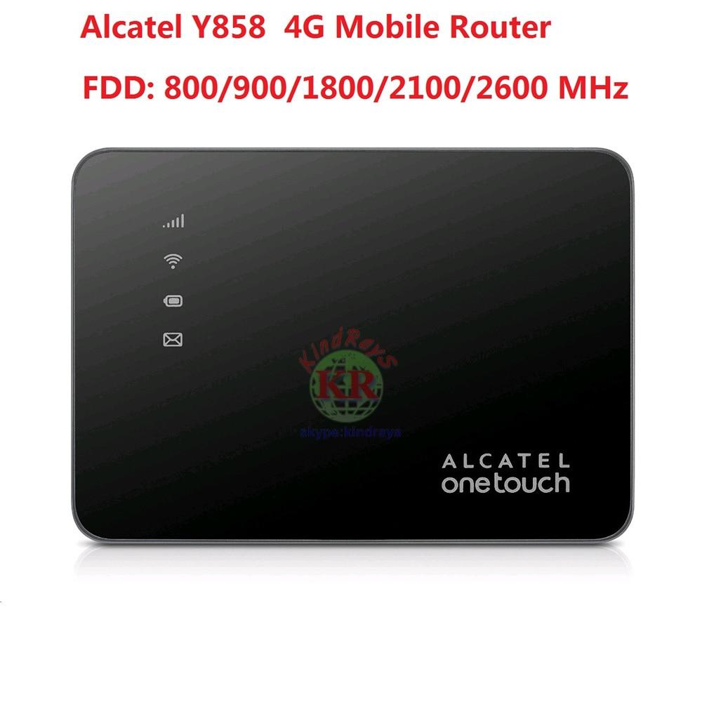 Unlock Alcatel Y858 150Mbps Pocket 4G Router  LTE Mobile WiFi Hotspot FDD 800/900/1800/2100/2600 MHz PK  E8377 MF855 E5770 free shipping original unlock 150mbps huawei e5577s protable 4g lte wifi router support lte fdd b3 b7 tdd b38