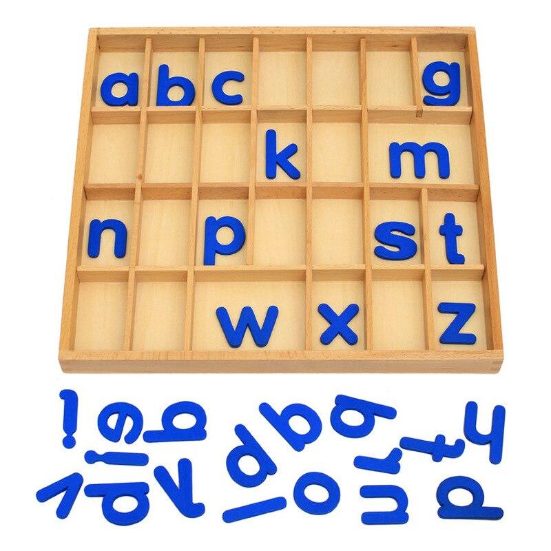 Bavoirsj Montessori English Letters Wooden Alphabet Baby Education Intelligence Blocks Waldorf Mathematical Wooden Toy B1838 baby intelligence wooden acrylic paint rainbow tower toy multicolored