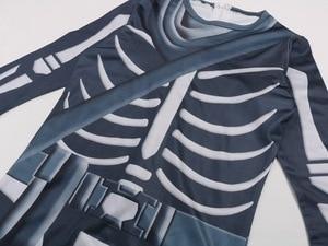 Image 3 - Skull Paratrooper Cosplay Costume Children Streetwear Costumes Boys Overalls Fortnited Cosplay Children Halloween Festive Evenin