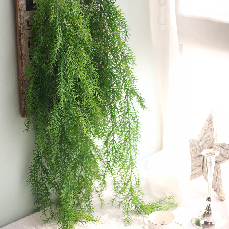 Simulation Rattan 105cm  Plant Artificial Flower Vine Bouquet Fake Leaves Hanging Plants For Home Wedding Decor Flower Art