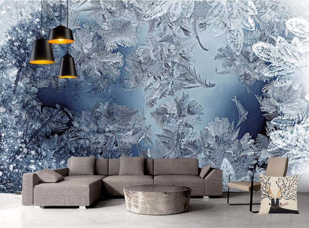 Custom European Simple 3D Wallpaper Winter snow landscape 3D Mural Wallpaper Non-woven Bedroom Livig Room TV Sofa TV Backdrop modern simple romantic snow large mural wallpaper for living room bedroom wallpaper painting tv backdrop 3d wallpaper