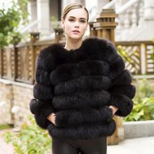 2019 Women Real Fox Fur Coat Winter Fur Jacket Short Outerwear Natural Arctic Fur Coats for