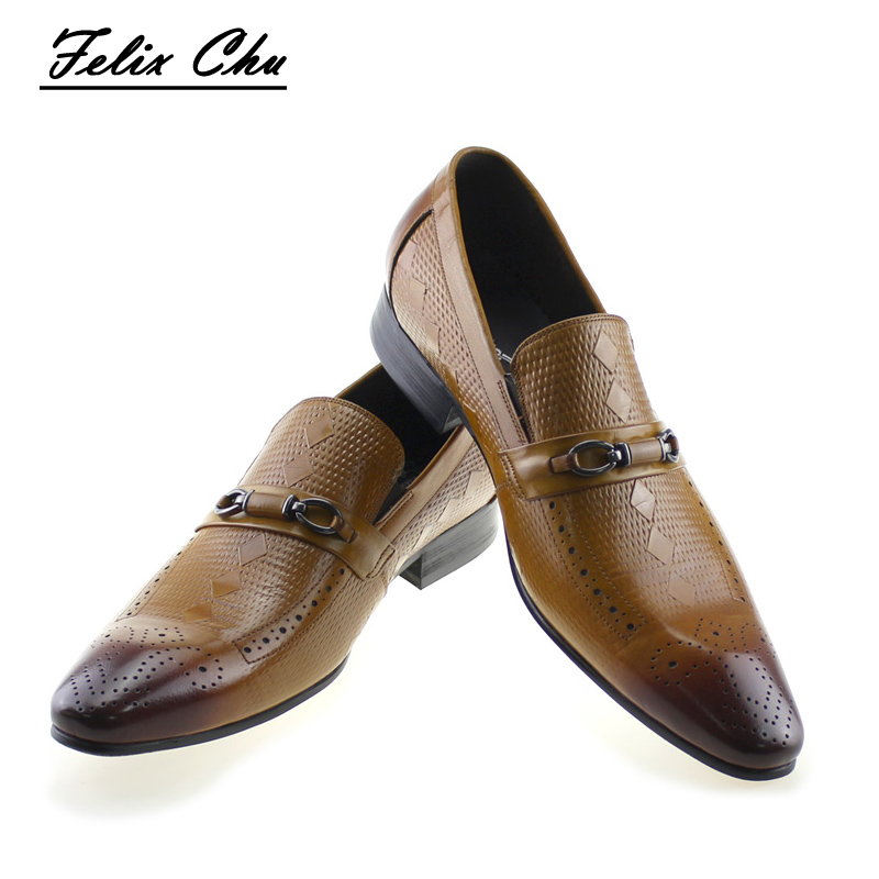 2017 Autumn New Genuine Leather Slip On Men Formal Shoes With Metal Button Pointed Toe Business Office Dress Shoe Men's Flat plus size 2016 new fashion genuine leather formal brand metal pointed toe rivets punk rock men s slip on brogue shoes fpt324