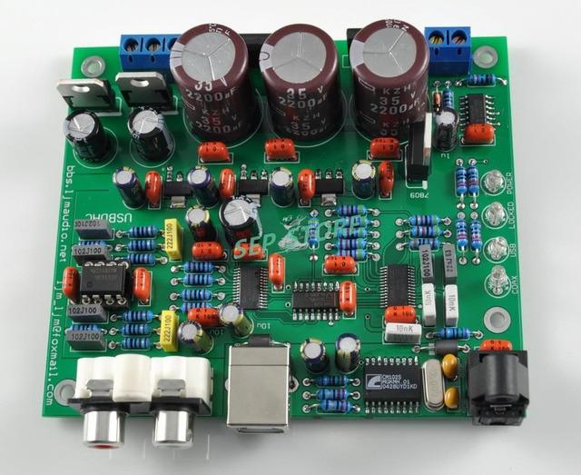 NEW LJM CS4398 DAC Board (DAC KIT) With USB Optical Fiber 24/192k