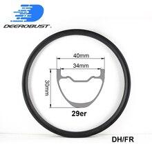 29er DH карбоновые колесные диски для горного велосипеда 30 мм x 40 мм горные FR бесплатные для езды на велосипеде колеса MTB бесцепные, бескамерные обода клинера 32 36 отверстий