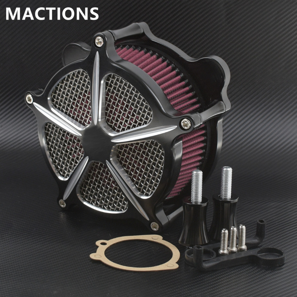 Air Cleaner Intake Filter air Filter for Harley Softail Touring FLHR Fat Bob Dyna Softail Deluxe Heritage street glide 93 15